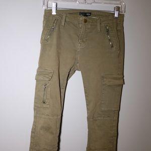 Aqua Olive Green Military Pants